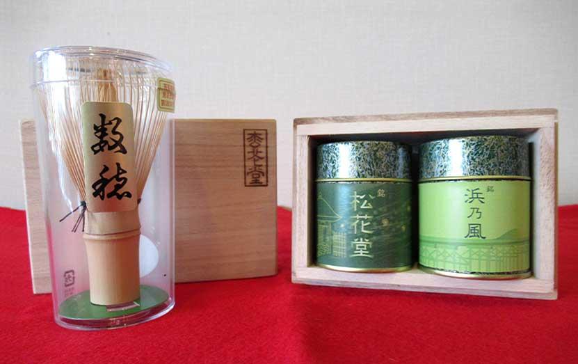 八幡市産抹茶(浜乃風・松花堂)飲み比べセット